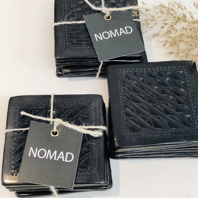 NOMAD Oaxaca Black Clay Coasters