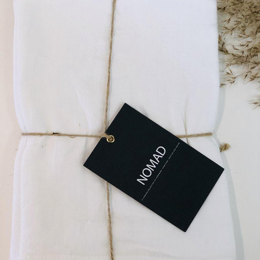 BeHome Linen Tea Towels White, Set of 2
