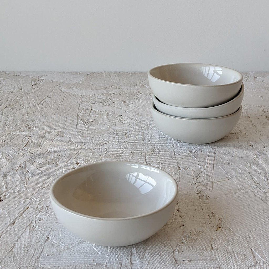 "Gharyan Condiment Bowl Dadasi 4"" Matte White/Shiny White"