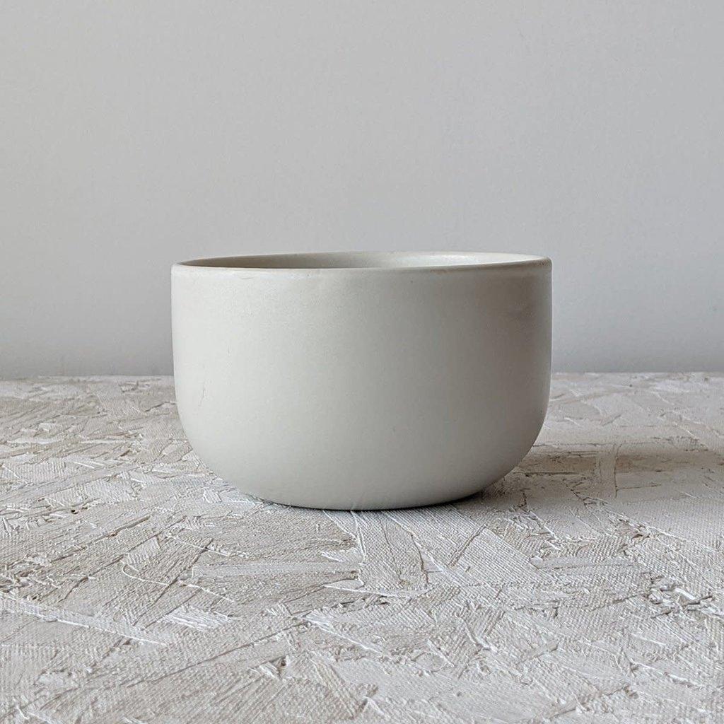 """Gharyan Soup Bowl 5.5"""" Matte White"""