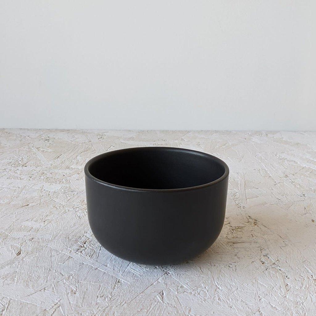 """Gharyan Soup Bowl 5.5"""" Matte Black"""
