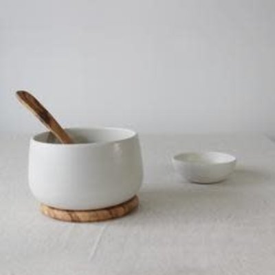 "Gharyan Serving Bowl 6.7""-Matte White"