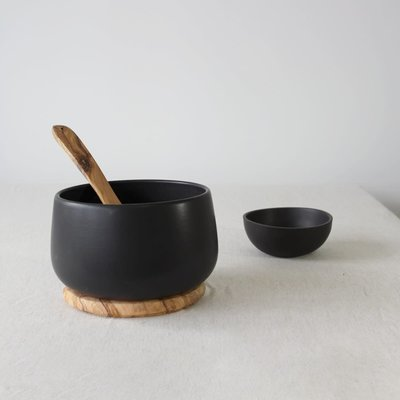 "Gharyan Serving Bowl 6.7"" Matte Black"