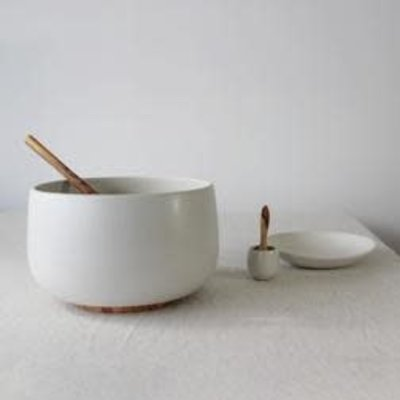 "Gharyan Serving Bowl Large 9.4""  Matte White"