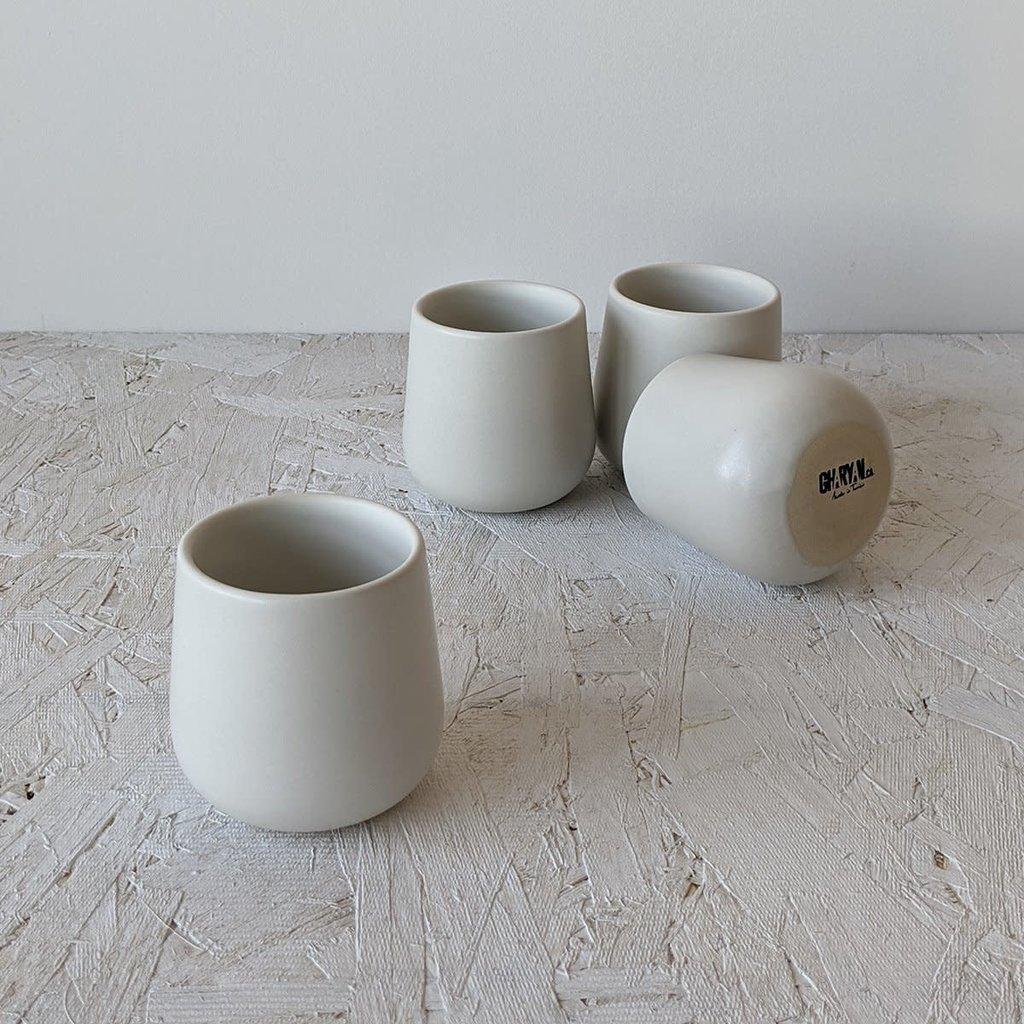 Gharyan Coffee/Tea Cup EDAN 7.5 oz Matte White