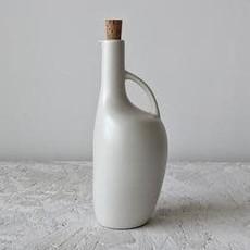 Gharyan Olive Oil Bottle Canard 34 oz Matte White
