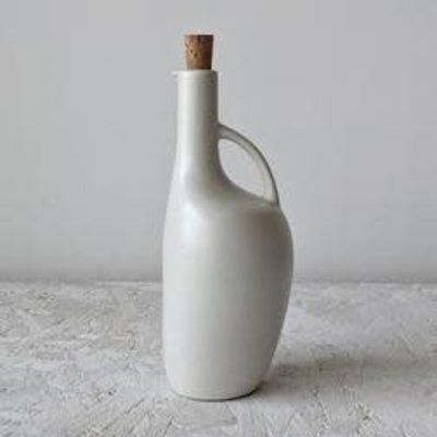 Gharyan Olive Oil Bottle Canard 34 oz Matte White