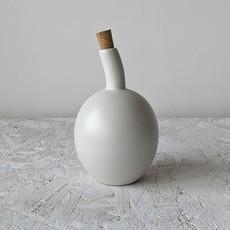 Gharyan Olive Oil Bottle Zitouna 34 oz Matte White