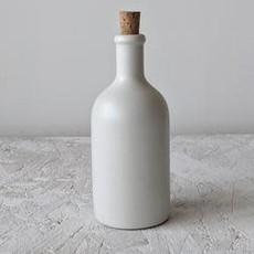 Gharyan Olive Oil Bottle Jazz 21 oz Matte White