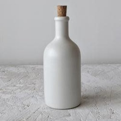 Gharyan Olive Oil Bottle Jazz 21 oz Matte White