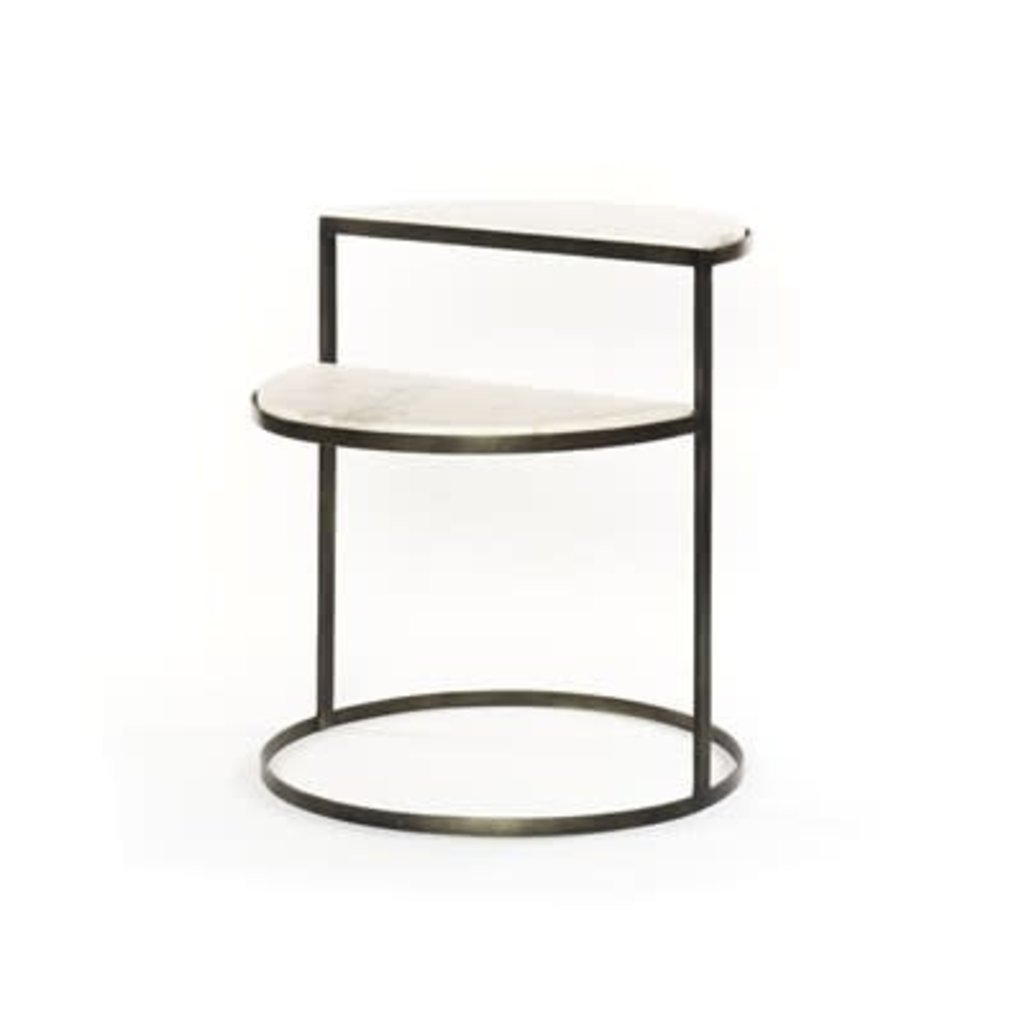 Barnett Nightstand Hammered Black