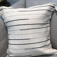 Wayil Guatemala Handmade Pillow 18X18 Bone/Grey/Black