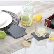Bloomingville Black Slate Coasters