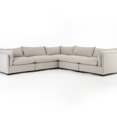 Four Hands Westwood Sectional 5pc - Bayside Pebble