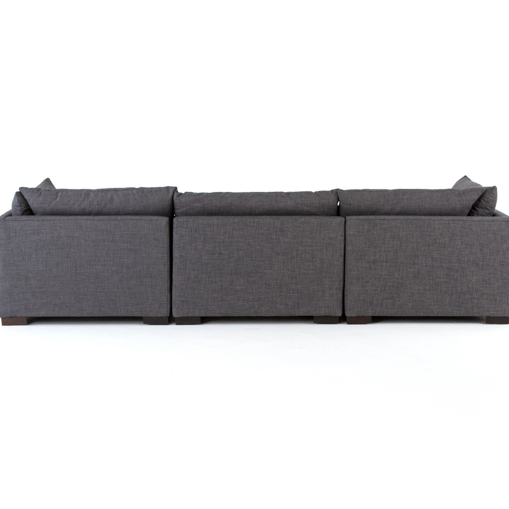 Four Hands Westwood Sectional 3pc- Bennett Charcoal
