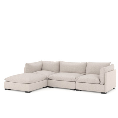 Four Hands Westwood Sectional 3pc - Bayside Pebble
