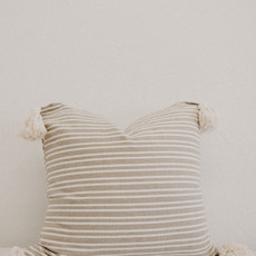 Oaxaca Neutral Beige/Cream Stripe 20x20