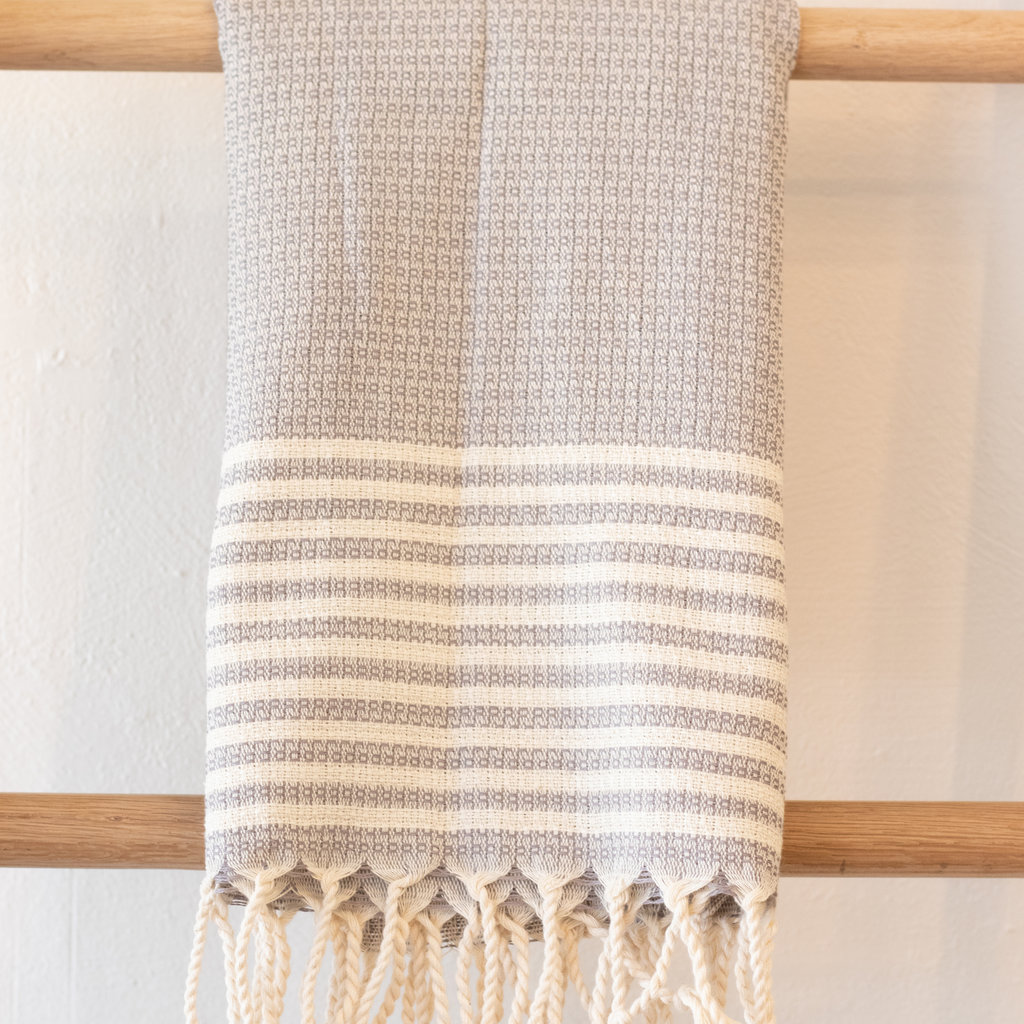 Stripe Hand Towel  GREY