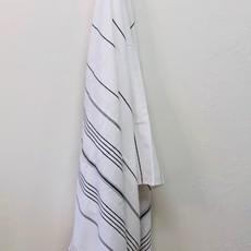 Classic Terry Bath Sheet  WHITE/GREY
