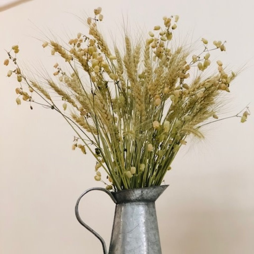 Dried Flowers + Vintage Milk Jug