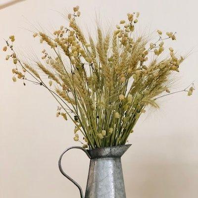 Dried Flowers + Vintage Milk Jug