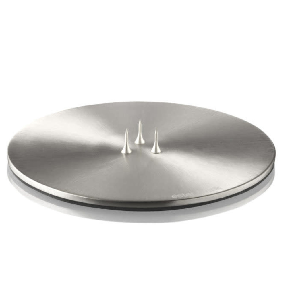 - Candle Plate - Brushed Chrome