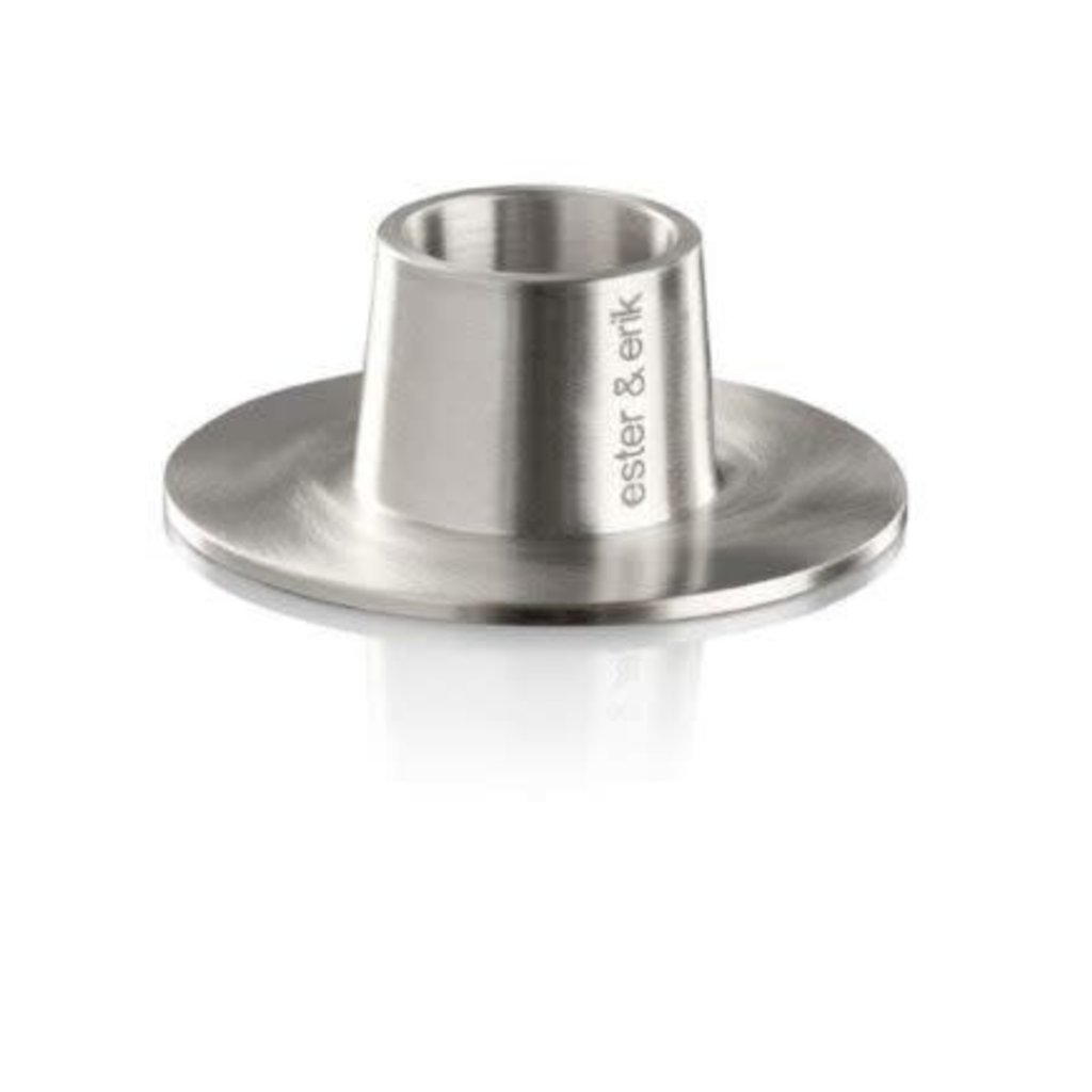 - Taper Candle Holder - Brushed Chrome