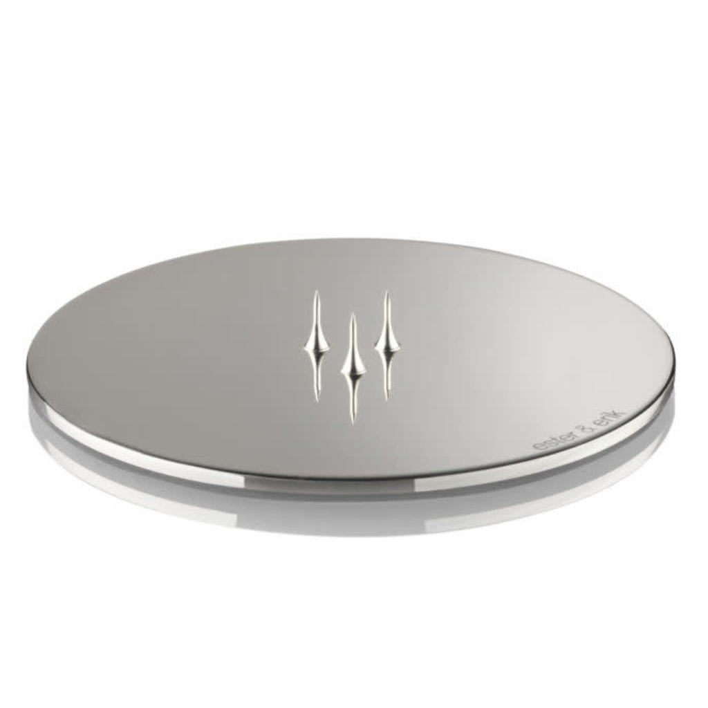- Candle Plate - Polished Chrome