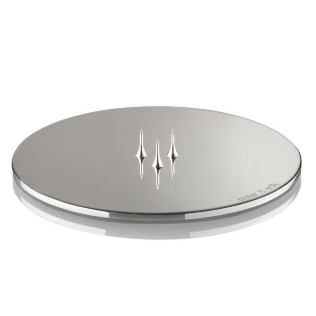 Ester&Erik Candle Plate - Polished Chrome