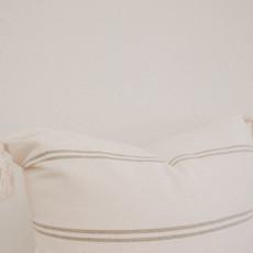 Oaxaca Neutral Stripe Cream/Beige 20x20