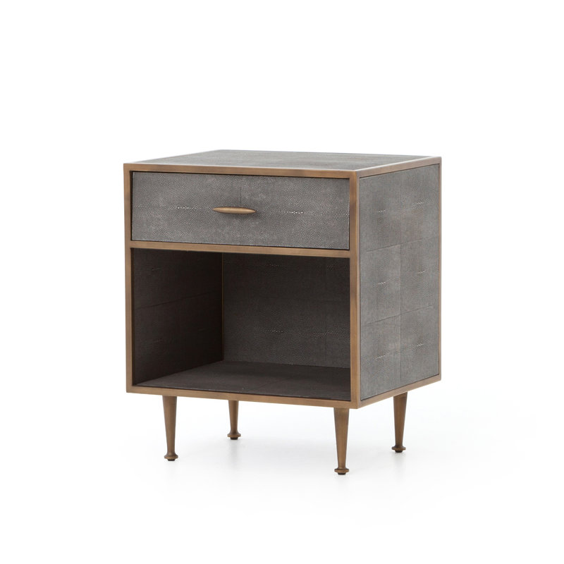 Four Hands Shagreen Bedside Table