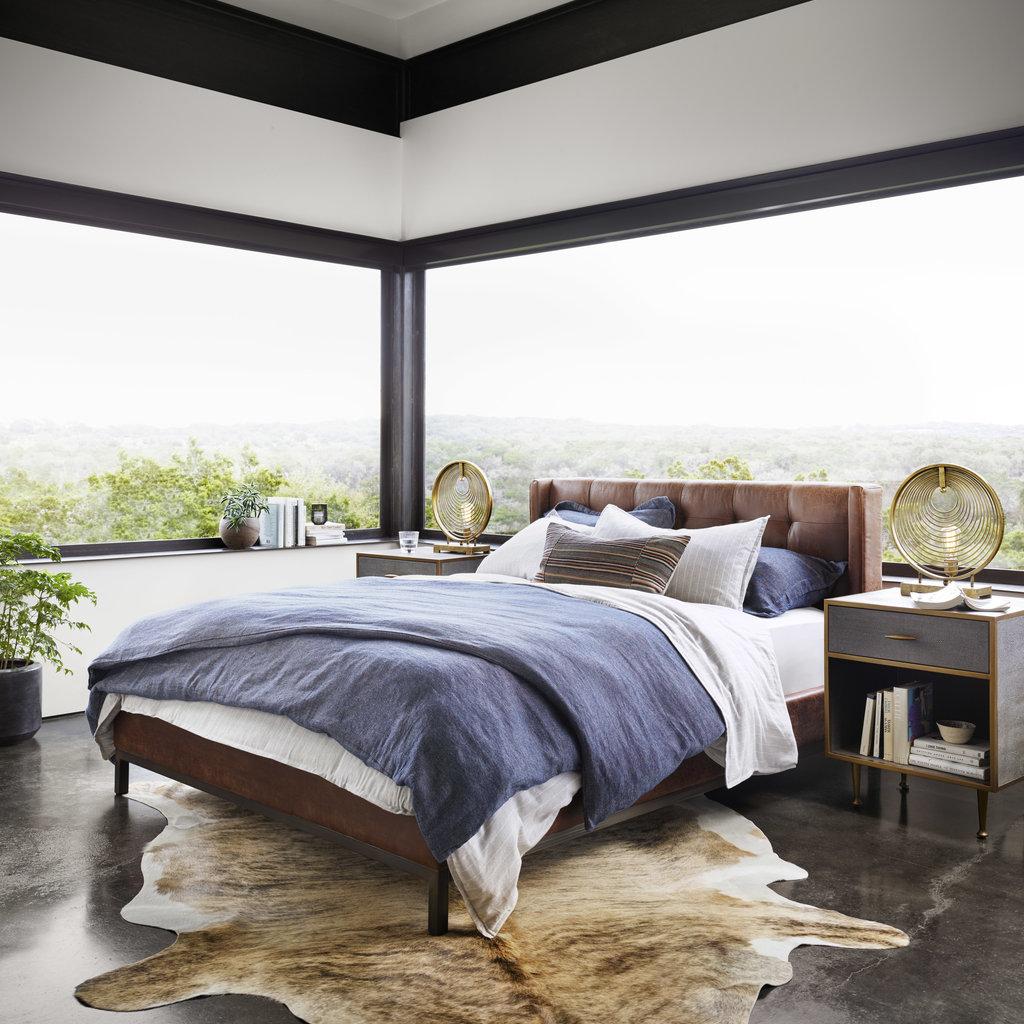 Shagreen Bedside Table
