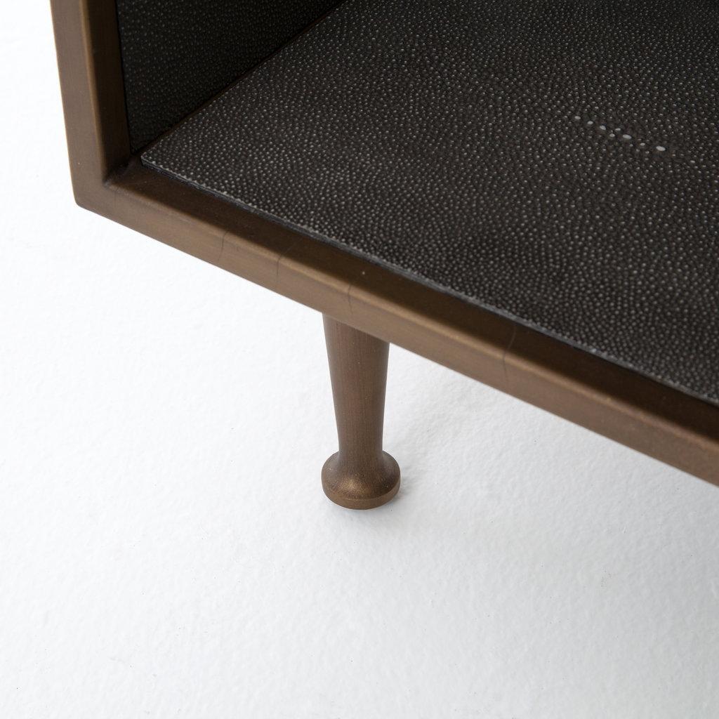 Four Hands Shagreen Bedside Table