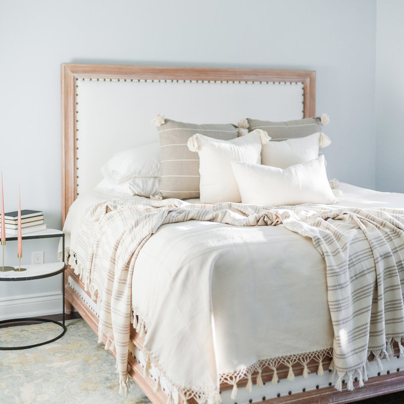 Oaxaca Queen Coverlet - Cream