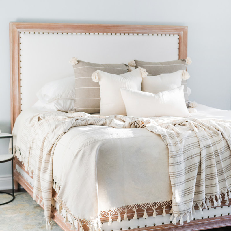 Oaxaca Oaxaca Double Coverlet - Cream
