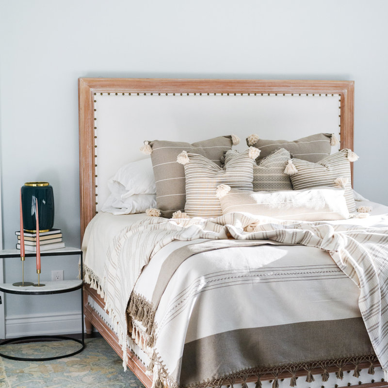 Oaxaca Oaxaca Double Coverlet - Cream/Neutral