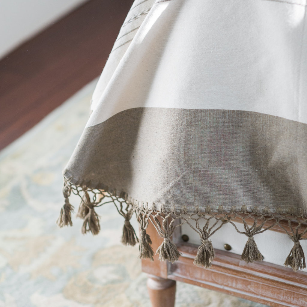 Oaxaca Double Coverlet - Cream/Neutral
