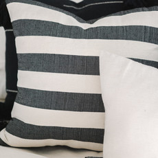 Oaxaca Large Navy Stripes 20x20