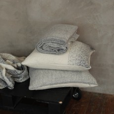 Alpaca Whitehorse Pillow Cover Light Grey/Ivory with Ivory Back