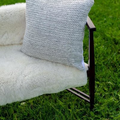 Alpaca Wool Robson Ivory/Grey Pillow Cover