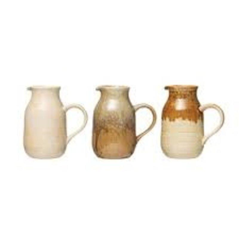 - Stoneware Pitcher 32oz - Ivory/Caramel Blend