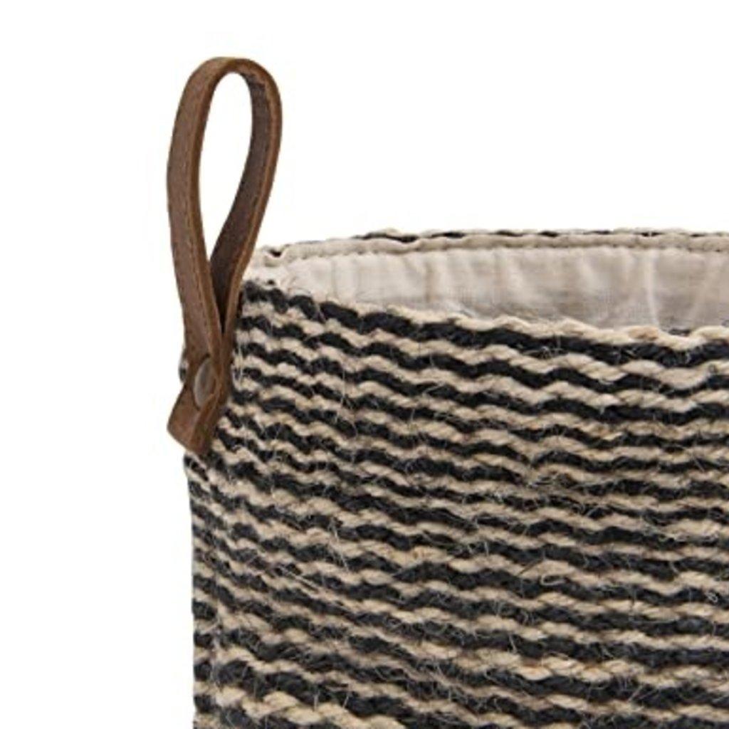 - Jute Baskets w/ Leather Hook (set of 2)