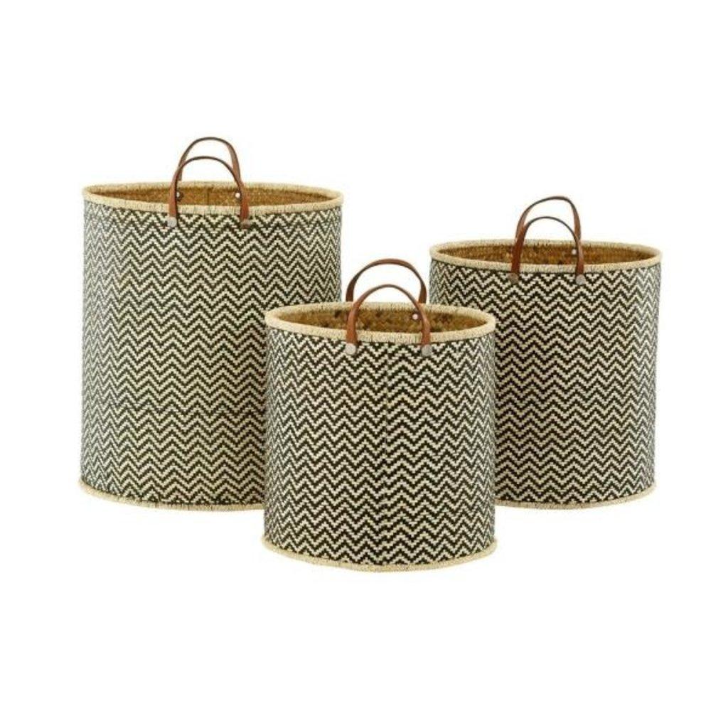 Palm Leaf Chevron Basket