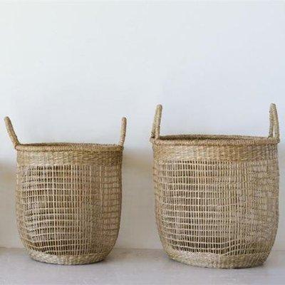 Hand Woven Round Seagrass Basket
