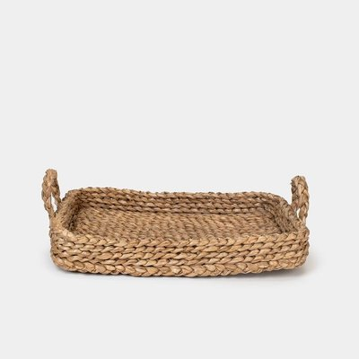 Bamboo & Jute Tray with Handles