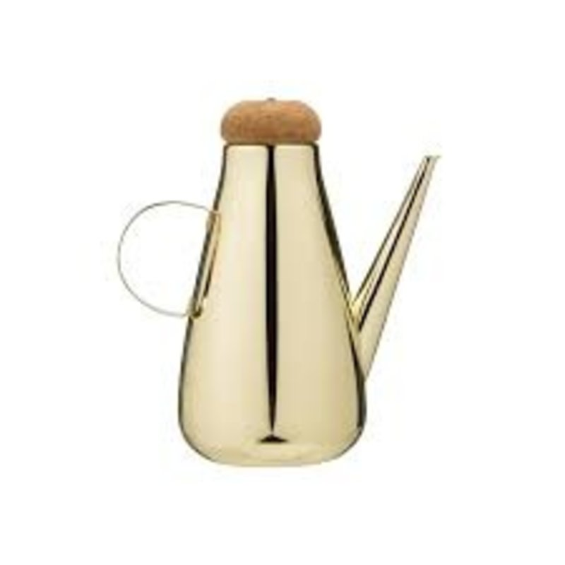 Creative Co-Op Gold Olive Oil Cruet with Cork