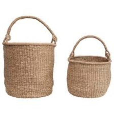 Tanzania Seagrass Basket with Handles