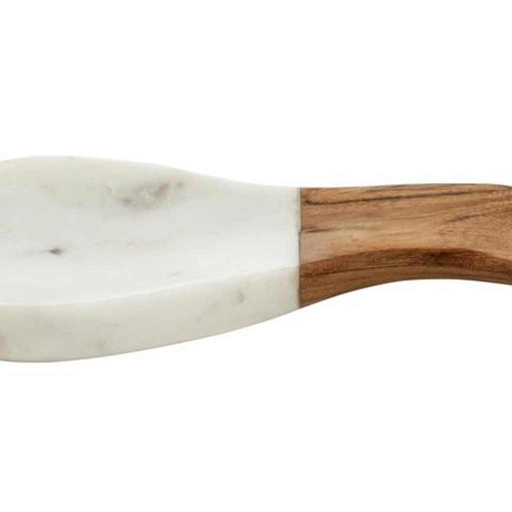 BeHome White Marble Wood Spoon Rest