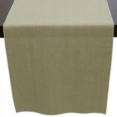 Linen Runner- Flax with Aqua