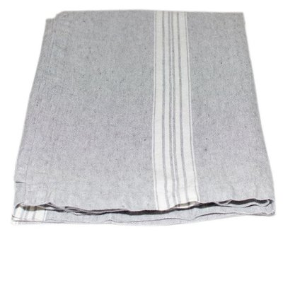 Maison Linen Hand Towel Grey with White Strip